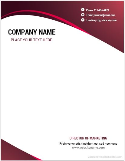 10 best letterhead templates word 2007 format microsoft for Word letterhead template with logo
