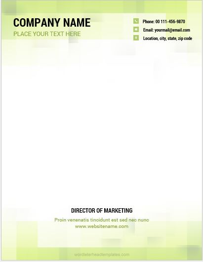 Company Letterhead Sample