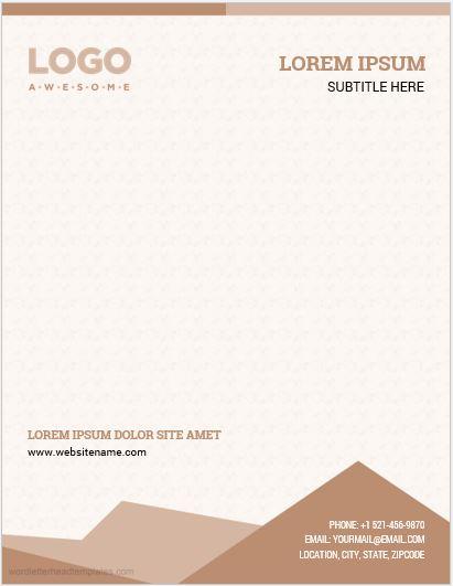 Company Letterhead Template