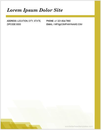 10 best word letterhead templates for everyone microsoft word