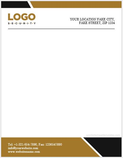 Letterhead Sample for Word