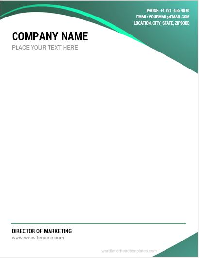 10 Best Company Letterhead Templates Word Microsoft Word
