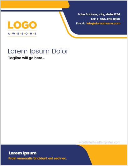 letterhead template ms word 2007