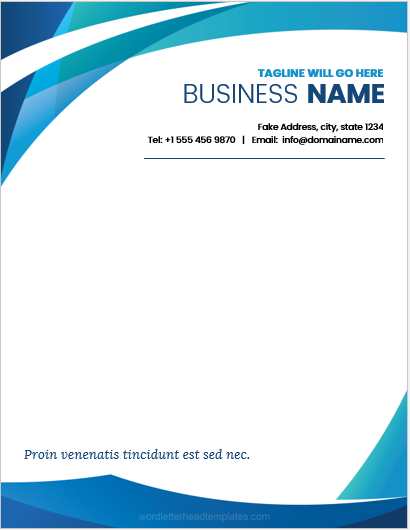 letterhead template ms word 2007