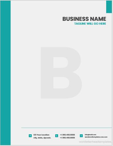 Corporate Business Letterhead