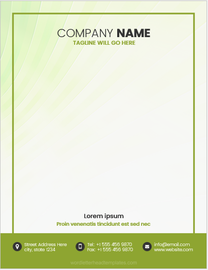 Small Company Letterhead Template