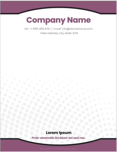 Small Company Letterhead Template for Word