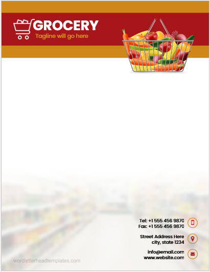 Grocery Business Letterhead Template