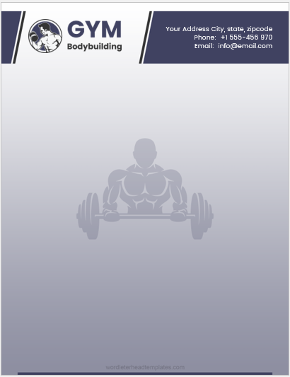 Gym Business Letterhead