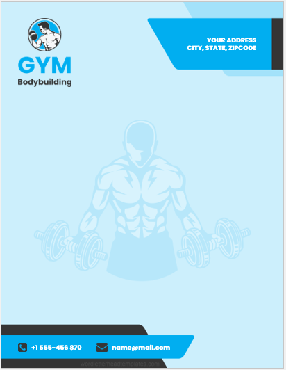 Gym Business Letterheads
