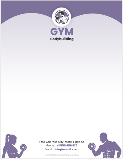 Gym Business Letterhead Template
