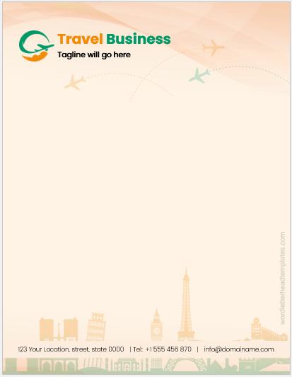 Travel Business Letterhead