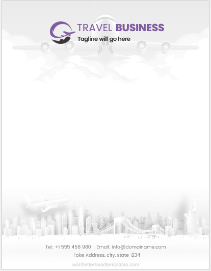 Travel Business Letterhead Template