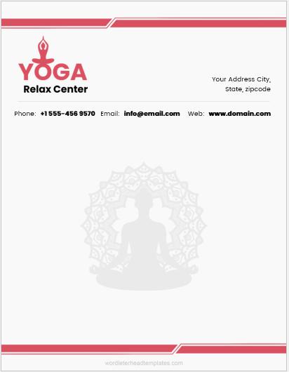 Yoga Services Letterhead