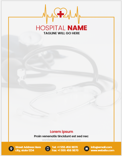 Hospital-letterhead-6-CRC Vintage Hospital Letterhead Templates on for word free, find free, cleaning company, graphic design, monogram personal,