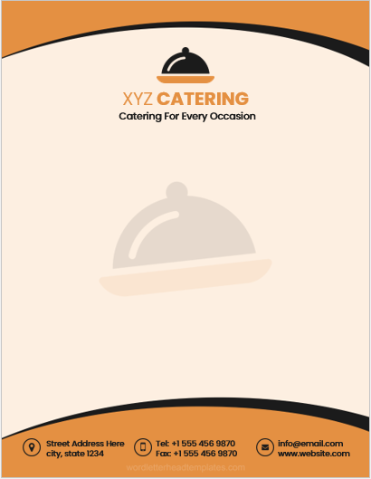 Catering company letterhead template