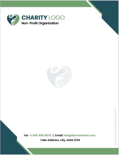 Charity organization letterhead template