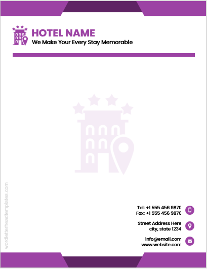 Hotel letterhead template
